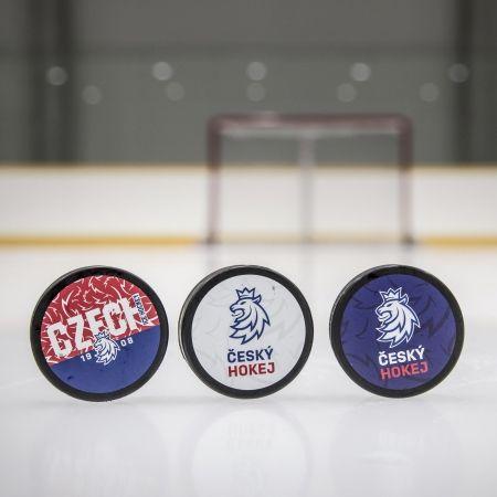 Hokejový puk - Střída NAPIS CZECH V PATTERNU CIHT - 2