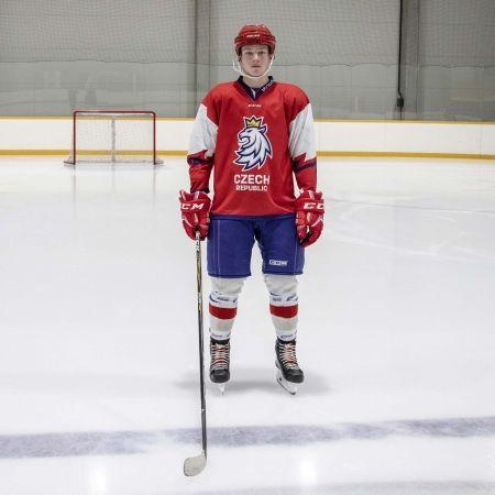 Hokejový puk - Střída NAPIS CZECH V PATTERNU CIHT - 3