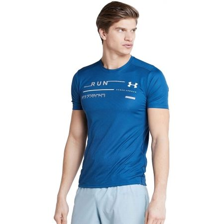 Pánske bežecké tričko - Under Armour RUN GRAPHIC TEE - 1