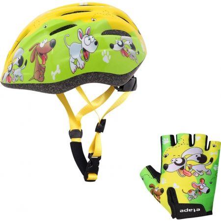 Detské cyklistické rukavice - Etape REX RUKAVICE KIDS - 4