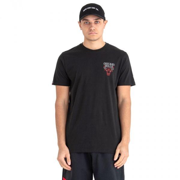 New Era NBA NEON LIGHTS CHICAGO BULLS černá L - Pánské tričko