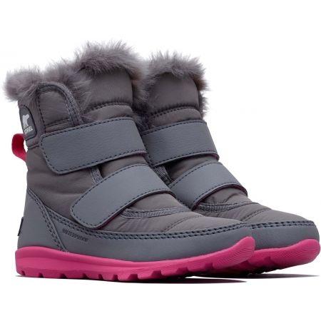 Dívčí zimní boty - Sorel CHILDRENS WHITNEY VELCRO - 2