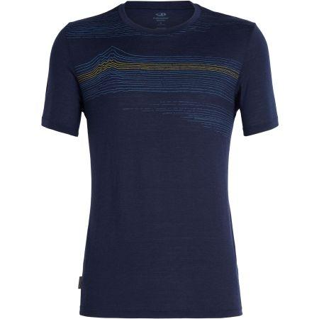 Мъжка тениска - Icebreaker TECH LITE SS CREWE LINEWORK - 1