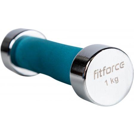 Jednoručná činka - Fitforce FDBCF 1KG - 2