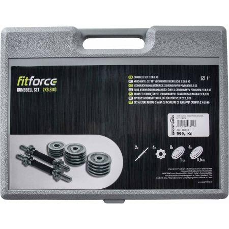 Fitforce ADBC 13,5 KG - Set greutăți pentru o mână