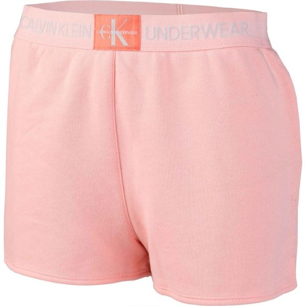 Calvin Klein SLEEP SHORT světle růžová M - Dámské šortky