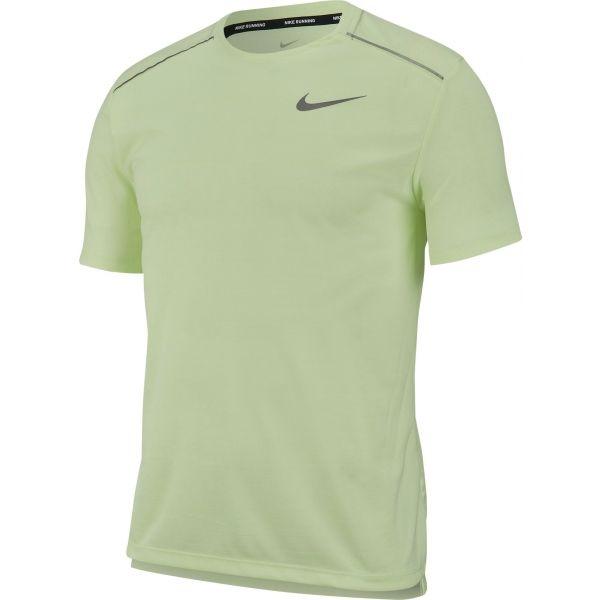 Nike DRY MILER TOP SS zelená L - Pánské tričko