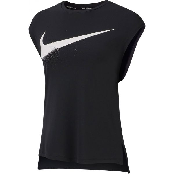Nike TOP SS REBEL GX fekete L - Női ujjatlan felső