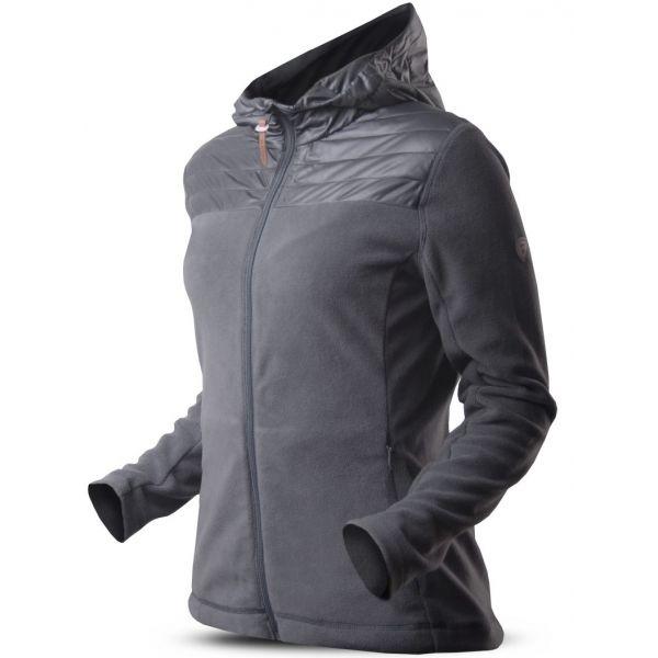 TRIMM ROTTA tmavě šedá M - Dámská fleecová bunda