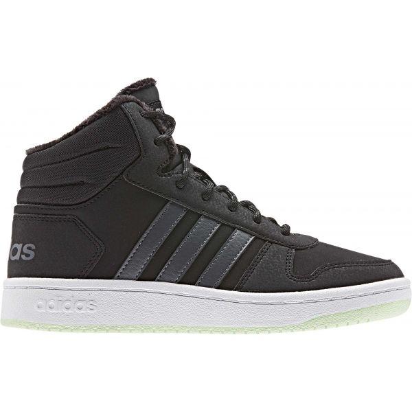 adidas HOOPS MID 2.0 K tmavě šedá 6.5 - Dětská zimní obuv