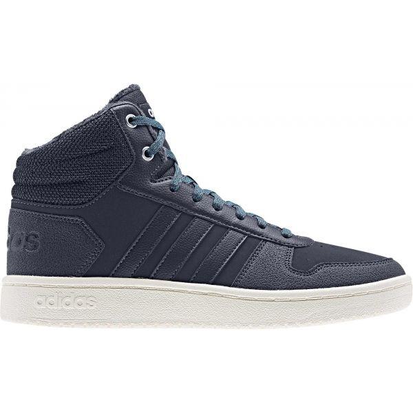 adidas HOOPS 2.0 MID tmavě modrá 4 - Dámská volnočasová obuv