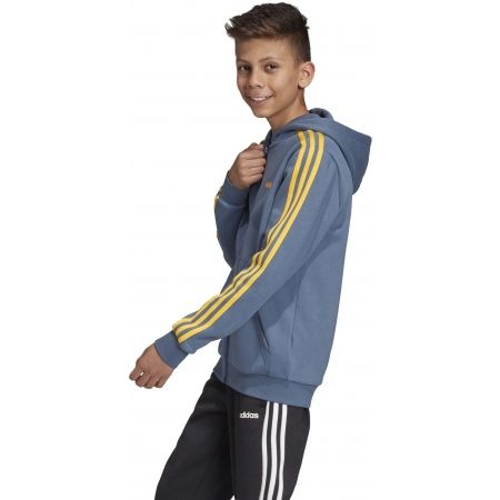 Chlapčenská mikina - adidas YB E 3S FZ HD - 6