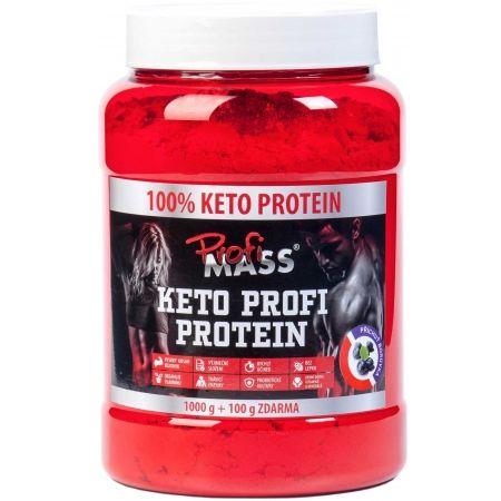 Protein - Profimass KETO PROFI PROTEIN 1000+100G BORŮVKA