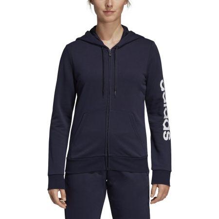 Women's hoodie - adidas ESSENTIALS LINEAR FULL ZIP HOODIE - 3