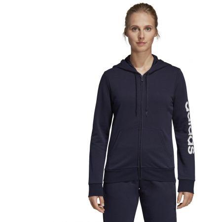 Women's hoodie - adidas ESSENTIALS LINEAR FULL ZIP HOODIE - 4