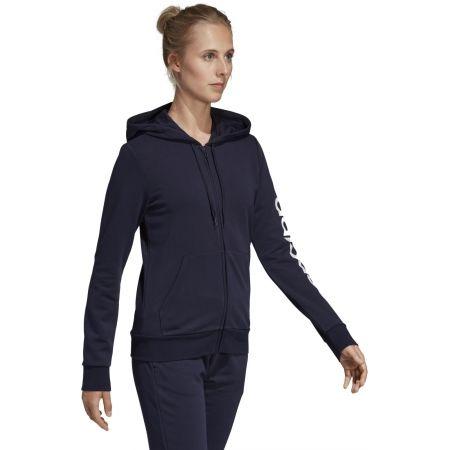 Women's hoodie - adidas ESSENTIALS LINEAR FULL ZIP HOODIE - 6
