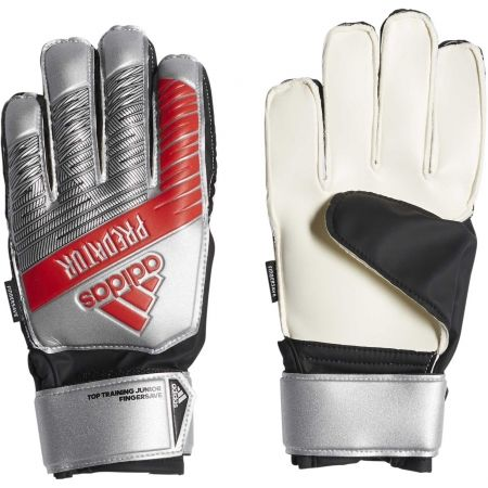 Kids' goalkeeper gloves - adidas PREDATOR TOP TRAINING FINGERSAVE JUNIOR - 1