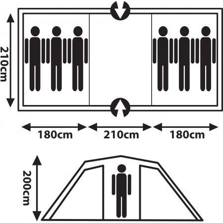 Rodinný stan - Crossroad RAINER 6 - 9