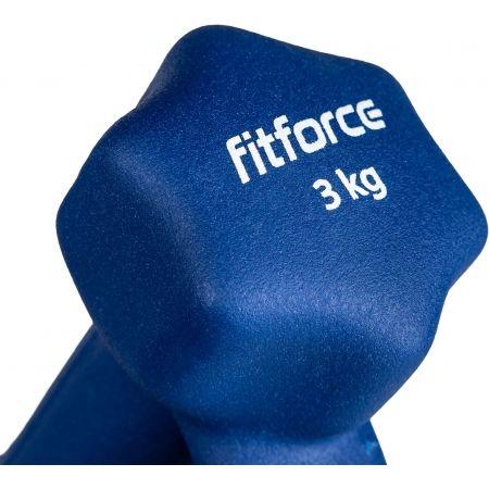 Jednoručná  činka - Fitforce FJDBN 3KG - 3