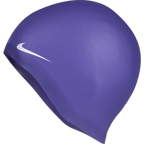 Nike SOLID SILICONE fioletowy NS - Czepek pływacki
