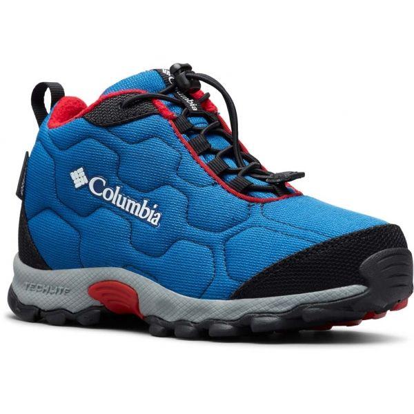 Columbia YOUTH FIRECAMP MID 2 WP modrá 5 - Detská treková obuv