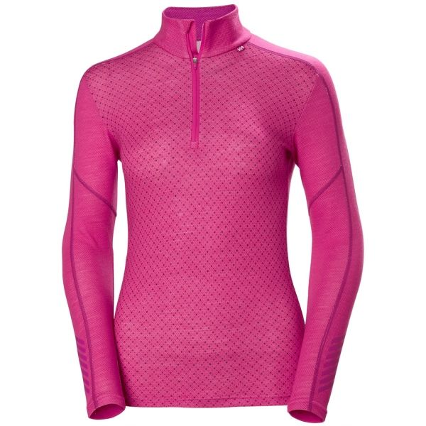 Helly Hansen LIFA MERINO GRAPHIC 1/2 ZIP rózsaszín L - Női póló
