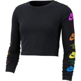 Nike NSW TEE LS FUTURA FLIP CROP - Dámske tričko