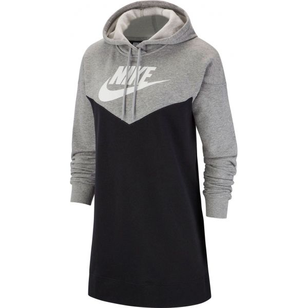 Nike NSW HRTG HOODIE DRESS SB biela 2XL - Dámske šaty