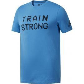 Reebok GS TRAIN STRONG TEE - Мъжка тениска