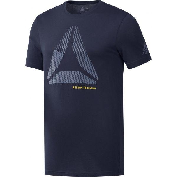 Reebok SHIFT BLUR TEE kék 2XL - Férfi póló