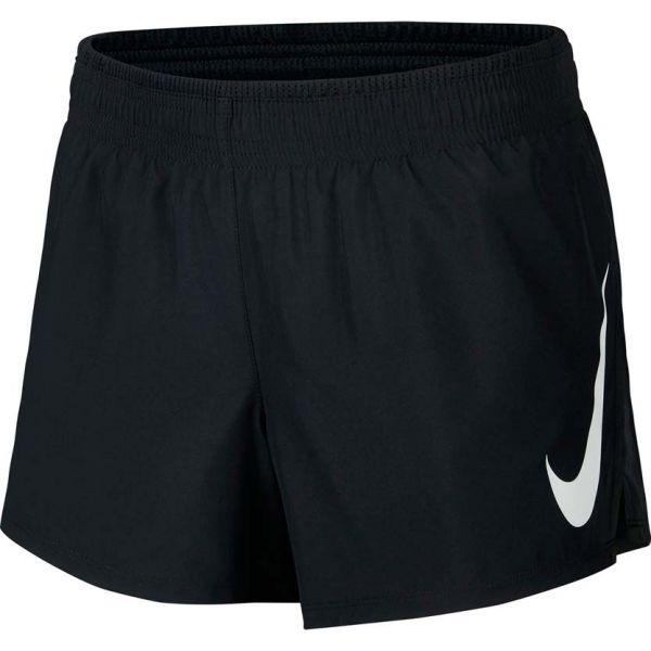 Nike SWOOSH RUN SHORT czarny M - Spodenki do biegania damskie
