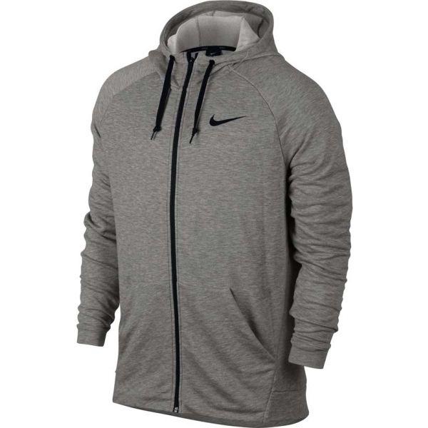 Nike DRY HOODIE FZ FLEECE šedá XL - Pánská mikina
