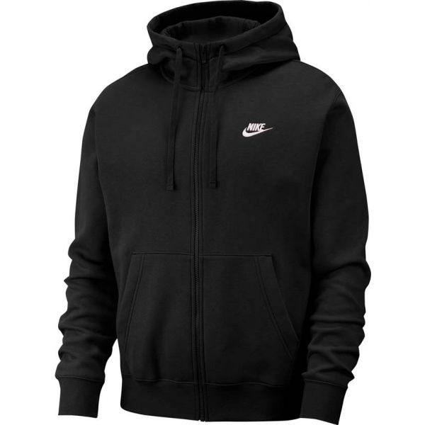 Nike NSW CLUB HOODIE FZ BB černá L - Pánská mikina