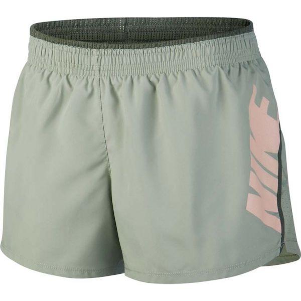 Nike 10K SHORT REBEL GX zelená S - Dámské běžecké šortky