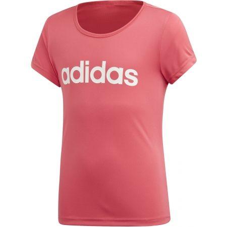 Тениска за момичета - adidas YG C TEE - 1
