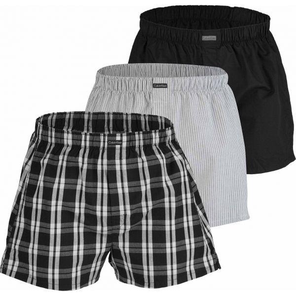 Calvin Klein BOXER WVN 3PK černá M - Pánské boxerky