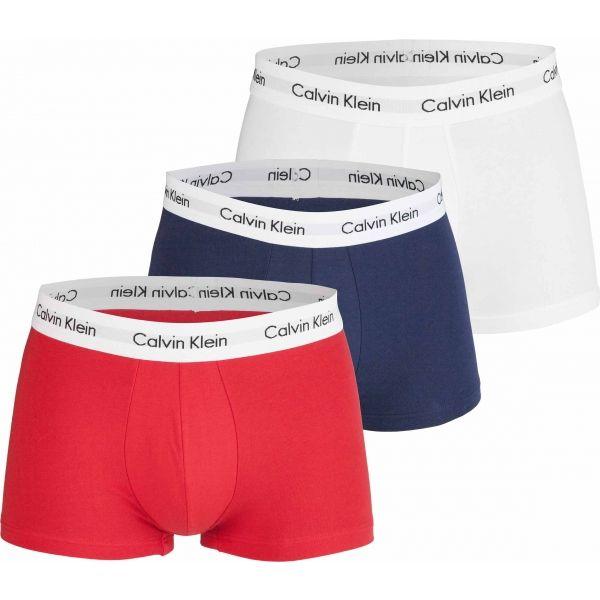 Calvin Klein 3 PACK LO RISE TRUNK tmavě modrá M - Pánské boxerky