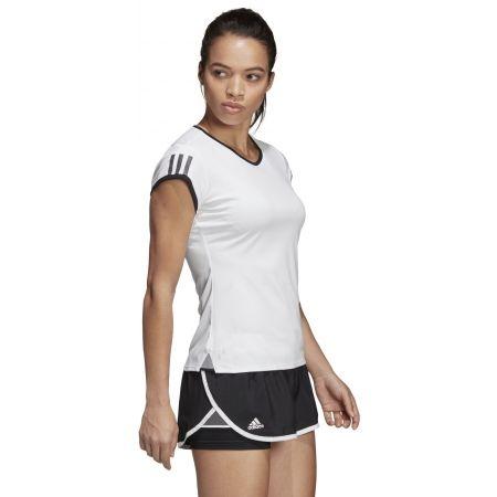 Dámské tenisové triko - adidas CLUB 3 STRIPES TEE - 5
