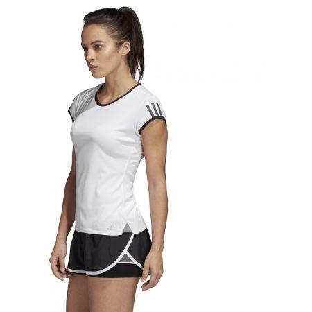Dámské tenisové triko - adidas CLUB 3 STRIPES TEE - 6