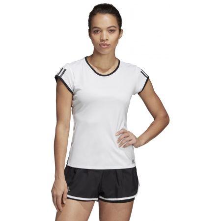 Dámské tenisové triko - adidas CLUB 3 STRIPES TEE - 4