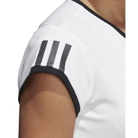 Dámské tenisové triko - adidas CLUB 3 STRIPES TEE - 9