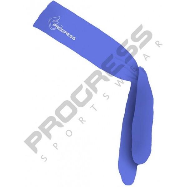Progress D TR CEL modrá NS - Sportovní zavazovací čelenka