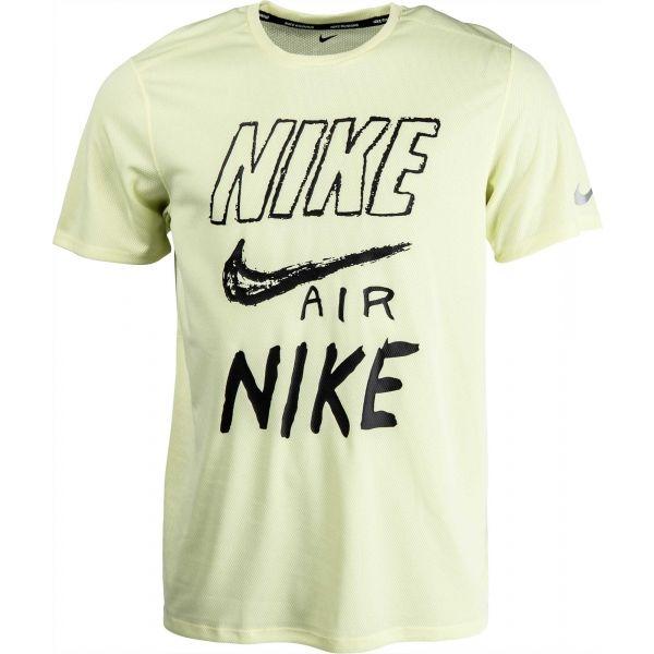 Nike BRTHE RUN TOP SS GX zelená XL - Pánske tričko