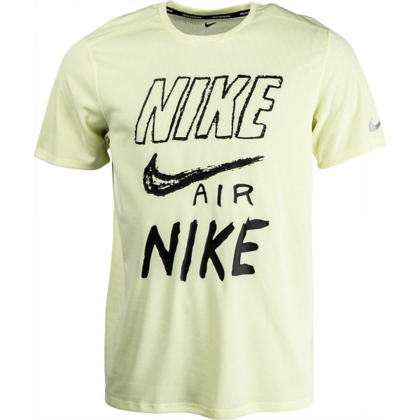 Nike BRTHE RUN TOP SS GX zelená XL - Pánské tričko