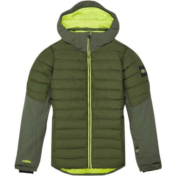 O'Neill PB IGNEOUS JACKET zelená 140 - Chlapecká snowboardová/lyžařská bunda