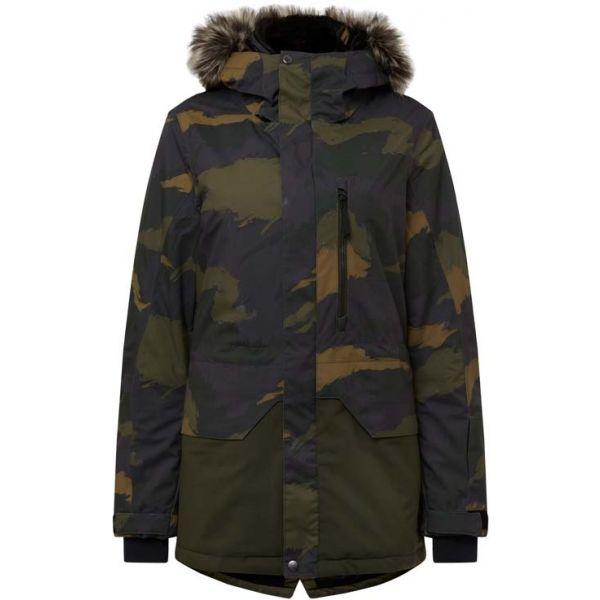 O'Neill PW ZEOLITE JACKET tmavě zelená L - Dámská lyžařská/snowboardová bunda