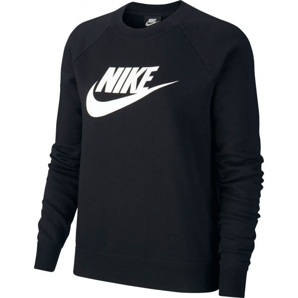 Nike NSW ESSNTL CREW FLC HBR czarny S - Bluza damska