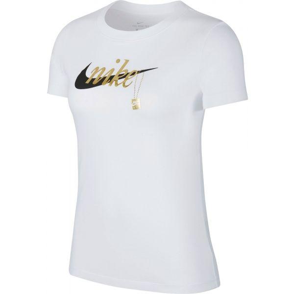 Nike NSW TEE SPORT CHARM biela M - Dámske tričko