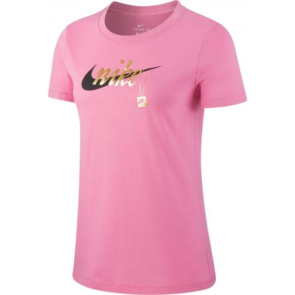 Nike NSW TEE SPORT CHARM ružová L - Dámske tričko