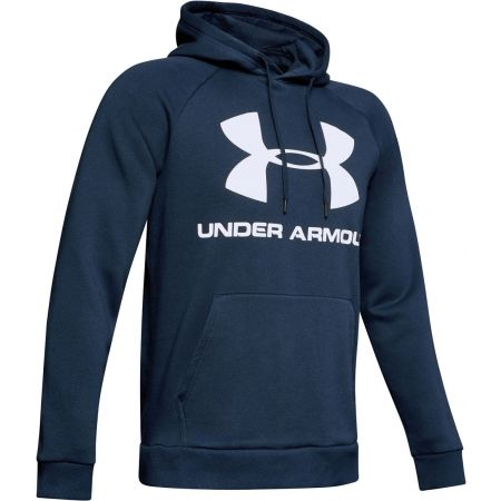 Pánska mikina - Under Armour RIVAL FLEECE SPORTSTYLE LOGO HOODIE - 1